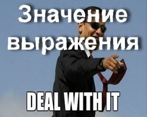 Что значит Deal with it?
