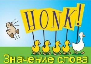 Что означает Honk?