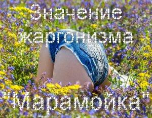 марамойка что значит