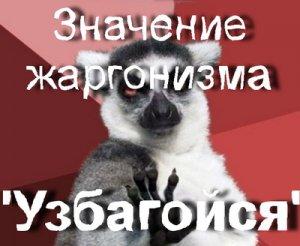 Что значит Узбагойся?