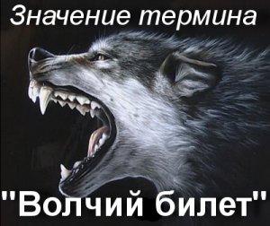 Волчий билет - что значит?