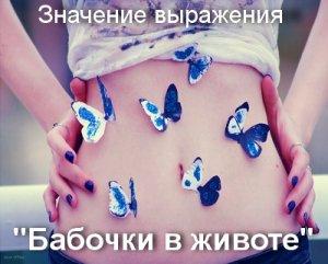 Бабочки в животе - что значит?