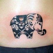 тату слон значение трайбл.