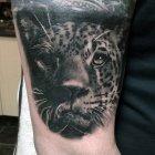 тату леопард чёрный значение.