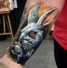 тату белый кролик значение.