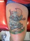 тату носорога мульт значение.