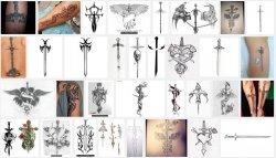 выбор тату меча.