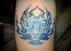 тату синий тигр значение.
