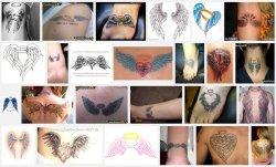 варианты тату с крыльями значение.