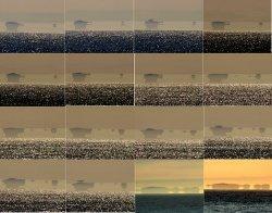 Fata Morgana островов Фараллон, как видно из Сан-Франциско.