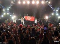 Концерт X JAPAN Визуальные поклонники kei делают жест «X» во время концерта X JAPAN в 2011 году.
