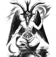 Бафомет, принятый символ некоторых систем, в том числе теистического сатанизма.