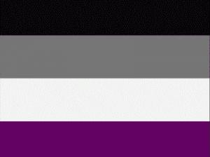 Асексуальный флаг.