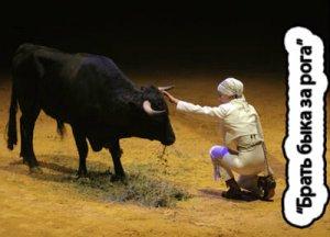 Брать быка за рога - что значит?