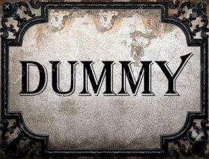 Dummy - перевод?