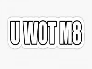 U wot m8 - что значит?