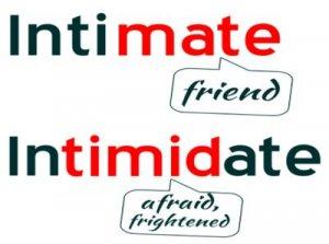 Intimidate, Intimate - перевод?