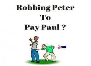 To rob Peter to pay Paul, перевод?