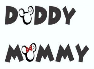 Mommy, Mama, Mom, Daddy, Dada, Dad, Papa, Pappy