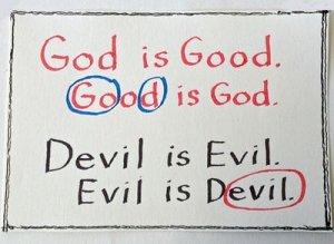 Good, God, Evil и Devil - перевод?