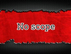 No scope - что значит?