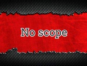 No scope - что значит?
