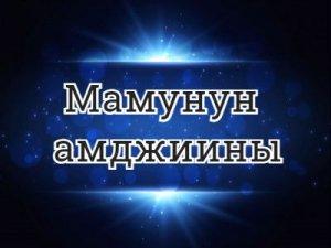 Мамунун амджиины - что значит?