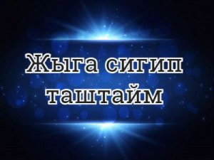 Жыга сигип таштайм - перевод?