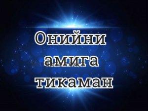 Онийни амига тикаман - перевод?