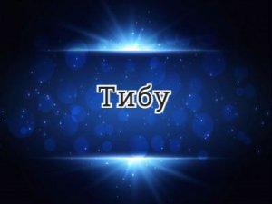 Тибу - что значит?