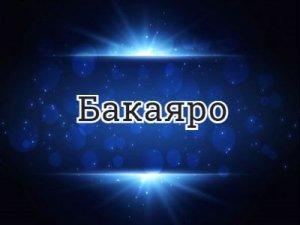 Бакаяро - что значит?