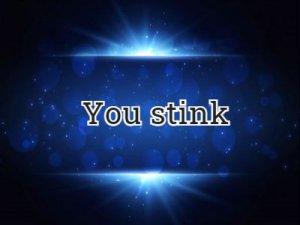 You stink - перевод?