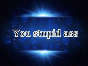You stupid ass - перевод?