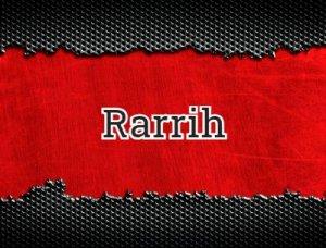 Rarrih - что значит?
